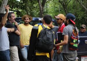 Equipo de rodaje en Santa Ana de Los Santos